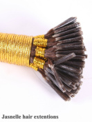 46cm Stick I Tip Pre-Bonded 100% Indian REMY Human Hair Extensions |Grade AAAA| Colour #2| 100 Strands