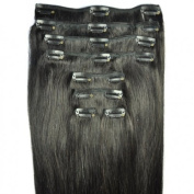 FULL HEAD of 100% Human Hair, Clip-in Hair Extensions - 46cm , Deluxe, Quality A Remy Hair. GREAT VALUE, 100 grammes of remy hair per set (120 grammes set weight) - TRIPLE WEFT.