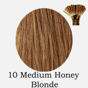 20'' Pre-Bonded Stick Tip Indian Remy Grade A 0.9g #10 Medium Honey