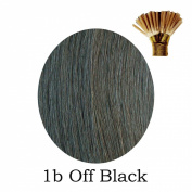 20'' Pre-Bonded Stick Tip Indian Remy Grade A 0.9g #1B Off Black