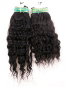 30cm & 36cm Inches| 100% Virgin Unprocessed Peruvian Remy Human Hair Extension| Deep Wave| Colour
