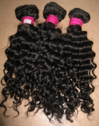 36cm & 41cm Inches| 200 Grammes| 100% Virgin Unprocessed Peruvian Remy Human Hair Extension| Deep Wave| Colour