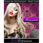 46cm 1# Jet Black RUSSIAN 100% Human WEFT Hair Extensions. Silky Straight WEAVE Weight 100G . LUXURY Russian TOP QUALITY 5AAAAA GRADE. By CelebExtensions