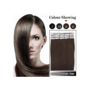 Beauty Online 20 Pieces Set Tape In Remy Human Hair Extensions Full Head Weight 50g_Straight - Colour