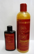 sulphate FREE ARGAN OIL SHAMPOO 354ML & ARGAN OIL 88.7ML TREATMENT BY CREME OF NATURE**DEAL**