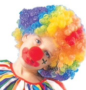Rg Costumes Clown Wig (Rainbow) Child Party Accessory