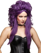 Purple & Black Nightmare Sorceress Halloween Wig - one size fits most