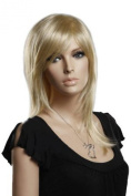 Euramerican Womens Sexy Long Straight Fashion Blonde Natural Hair Wig Full Wigs
