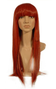 "NEW fashion HOT sexy Long red Blonde Straight hair fashion Full wigs Hair wigs 24"" 60CM"