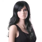 Songmics New Fashion Black Full Wig Wavy Long Hair 64cm WFF041