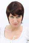 SHORT fringy Lady Quality Wig Bob CUTE Fringe BROWN MIX (1003 Colour 2T33) brunette