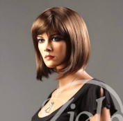 Forever Young Ladies Short Light Golden Brown Wig! Classy Bob Style from Premium VOGUE Wigs UK