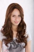 Lady Quality Wig naturally looking BROWN BRUNETTE MIX wavy 3243-33H27 45cm Peluca Parrucca