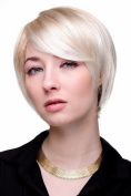 Lady QUALITY Wig short DOM & SEXY crazy parting cosplay BLONDE