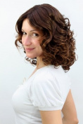 NEW ROMANTC Lady QUALITY Wig CUTEST CURLS brunette brown mix