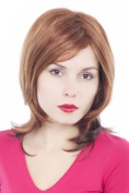 VERY CHIC & SEXY Lady Quality Wig sort medium long RED-BROWN mixed reddish BROWN strands streaks GFW342A-33-130H27 35 cm Peluca Parrucca