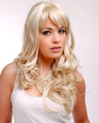 Forever Young Beautiful Ladies Wig Long Wavy Light Strawberry & White Blonde Mix Fashion Wig