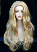 Forever Young XXX Long Ladies Wig Fringeless Platinum Blonde & Light Strawberry Hints Fashion Wig