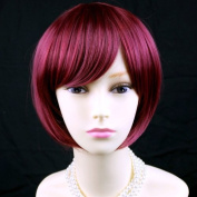 Cool Short Bob Style Red mix Ladies Wigs UK #39