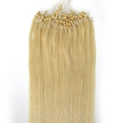 Loop Micro Ring 100% Remy Human Hair EXTENSION Fashion Colours 613# Light Blond 50g,100S 50cm