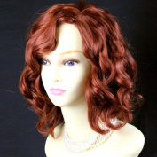 NEW !!! Lovely Short Wig Curly Fox Red Summer Style Skin Top Ladies Wigs UK