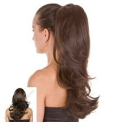 Brunette Dual Style Pony Tail Hairpiece 41cm Heat Styleable