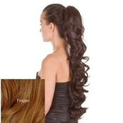 Curly Wavy PonyTail Hairpiece 60cm By 'ExceLength' in Ash Blonde/ Brown Mix