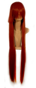 NEW fashion HOT sexy supper Long Dark Red Straight Anime cosplay wigs party Masquerade girls 100CM