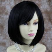 Pretty Short Bob Black wig Soft Natural Ladies Wigs UK