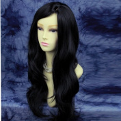 Stunning Long Wavy Black Ladies Natural Wigs UK