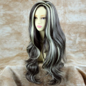 NEW !!! Heat Resistant Long Layers Wavy Brown mix Ladies Wig UK