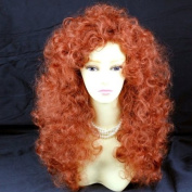 Wild Untamed Long Curly Full Wig Fox Red Ladies Wigs UK