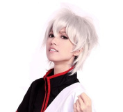 Cosplayland C323 - 30cm silver white short layered flip out wild Frisur cosplay heat-resistant Wig