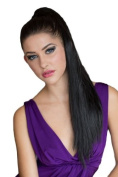 Black, Long, Straight, Hairpiece Ponytail Extension
