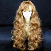 STRIKING! Long Wavy Curly Strawberry Blonde Ladies Wigs UK