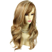 Wonderful wavy Long Golden strawberry Blonde mix Curly Ladies Wigs Hair UK