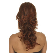 Bodywave Volume Half Wig Hairpiece | Adds Extra Length and Volume | Ginger Copper