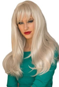 A Long, Silver, Razor Cut, Face Frame Wig