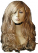 Annabelle's Wigs Extra Long, Two-Tone Blonde Wig With A Side Parting And Big Loose Curls