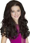 Dark Brown, Curly, 3/4 or Half Wig Hairpiece Extension