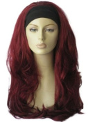 Red, Curly, 3/4 Or Half Wig Hairpiece Extension
