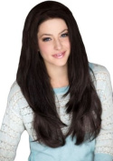 3/4 Or Half Wig Hairpiece Extension, Dark Brown, Layered