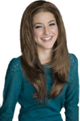 Light Brown Gently Layered 3/4 Half Wig Hairpiece Extension