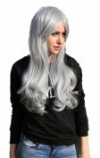 Cosplayland - C265 70cm long heat-resistant Cosplay Wig with glamour Wave - light grey