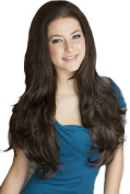 Annabelle's Wigs Brown, Layered Wavy 3/4 Half Wig Hairpiece Extension
