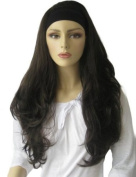 Annabelle's Wigs Brown, Layered Wavy 3/4 Or Half Wig Hairpiece Extension