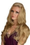 Blonde Wavy Half Wig Or 3/4 Wig Hairpiece Extension