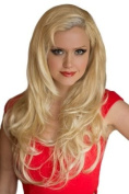 Blonde, Wavy 3/4 Or Half Wig Hairpiece Extension