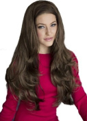 Medium Brown, Wavy 3/4 Or Half Wig Hairpiece Extension