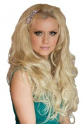Two-Tone Blonde Wavy Half Wig Or ¾ Hairpiece Extension